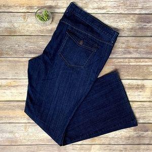 Old Navy Button Flap Pocket Flared Denim Jeans